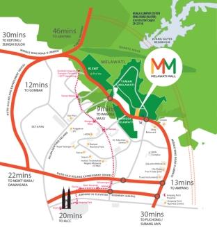 map Melawati Mall